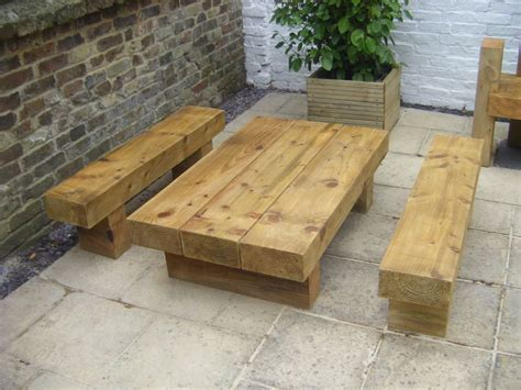roys garden furniture   railway sleepers