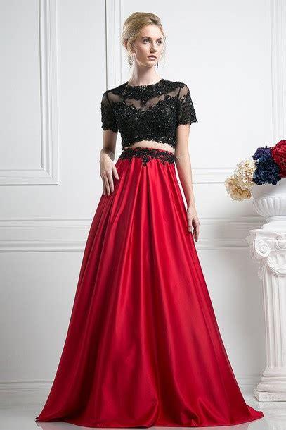 Adliya Dress Plain Series Green dress 2 prom dresses 2piece dress black crop top