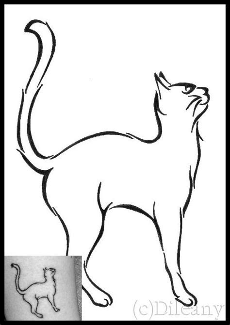 cat outline tattoo cat outline tattoos tattoo ideas cat tattoo by dileany on deviantart