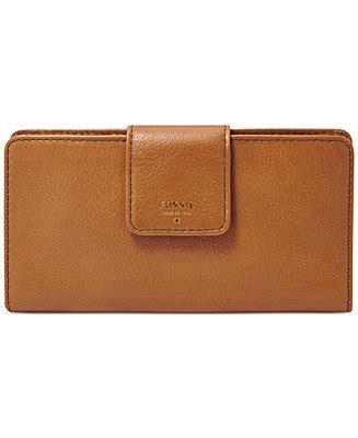 Fossil Tab Saddle fossil sydney leather tab clutch wallet handbags