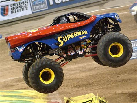superman monster truck videos the gallery for gt superman monster trucks
