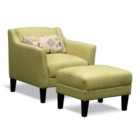 green living room chair chairs with ottomans for living room homesfeed