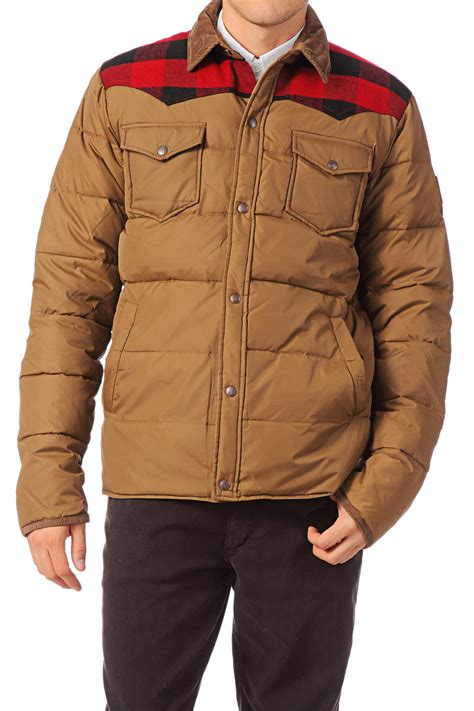 Penfield Quilted Jacket by Penfield Quilted Jacket In Brown For Lyst