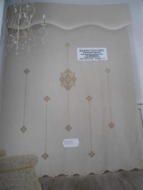 applicazioni all uncinetto per tende tende puro lino file intaglio gigliuccio e a novoli