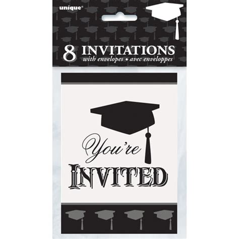 printable graduation invitations walmart 8 classic grad party invites walmart com