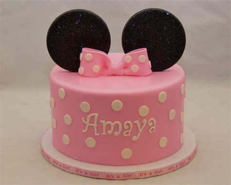 Minnie Mouse Baby Shower Cake by Gallery Baby Shower Cakes Cupcakes Cake In Cup Ny