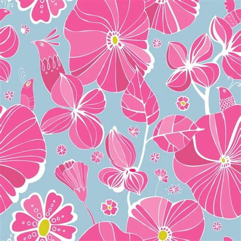pattern flowers line flowers background pattern vector line art free vector in
