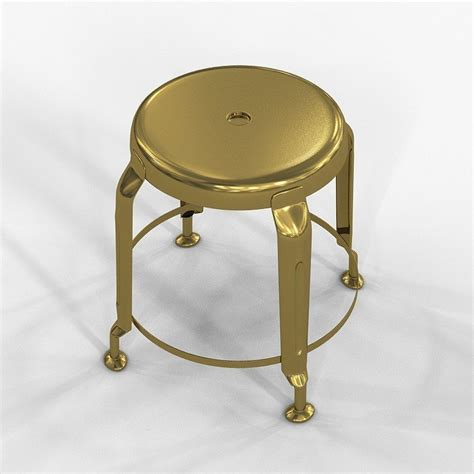 stool define gold by doctor house 3d model max cgtrader