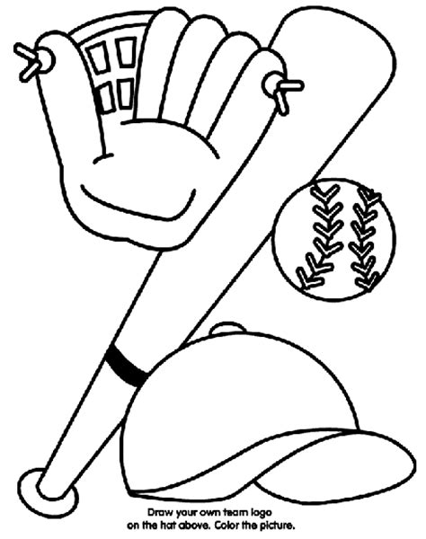 crayola coloring pages to print baseball equipment coloring page crayola com
