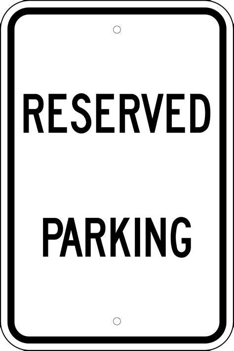 Reserved Parking Sign Black White 12 Quot X18 Quot Nac Supply Printable Reserved Parking Sign Template