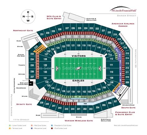 lincoln financial field sca club suite lincoln financial field philadelphia pa seating chart view