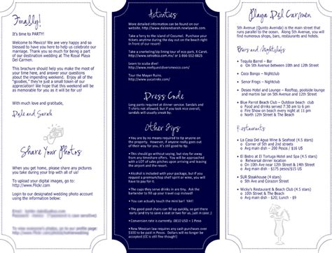 wedding welcome bag itinerary template custom design and writing services