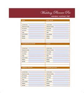 free guest list template wedding guest list template 10 free sle exle