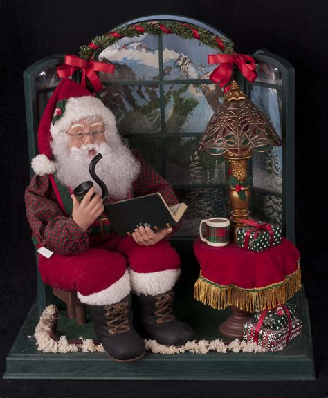 holiday creations santa doll for sale creations motionette santa sitting by bay window see ebay