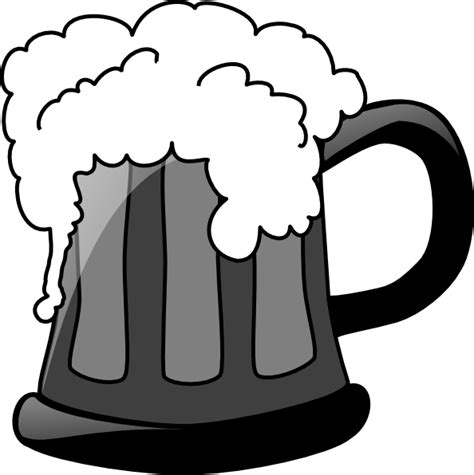 cartoon beer black and white grey scale beer mug clip art at clker com vector clip