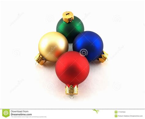 colored glass christmas ornaments stock images image