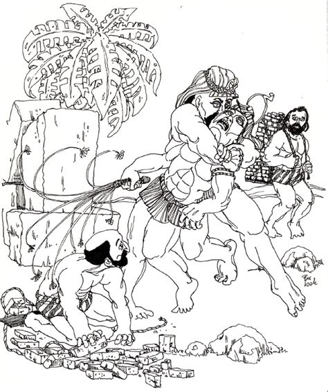 Pharaoh And Moses Coloring Pages by Moses Kills Page Coloring Pages