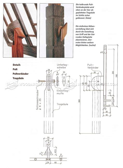 wooden  stand plans woodarchivist