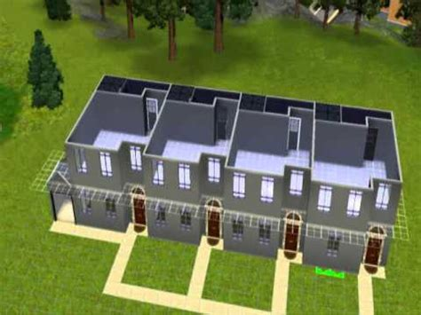 Sims 2 Apartment Zoning How To Build A Row Of Terraced Apartments In The Sims 3