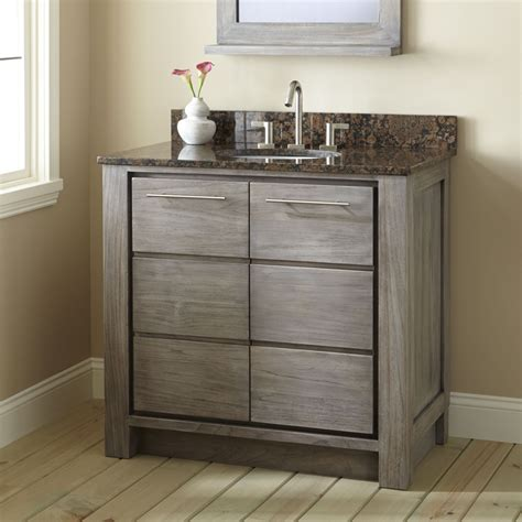 Pictures Of Vanities For Bathroom 36 Quot Venica Teak Vanity For Undermount Sink Gray Wash Bathroom