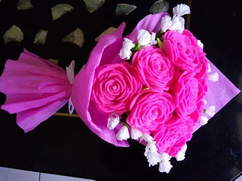 Buket Flanel Bunga Tulisan 20cm 1 jual buket bunga mawar pink dari flanel roses bouquet gift handmade flower store