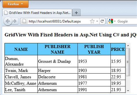 jquery ui layout fixed header gridview with fixed headers in asp net using c and jquery