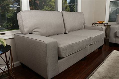home life 3 person contemporary upholstered linen sofa home life upholstered linen 2 person love seat