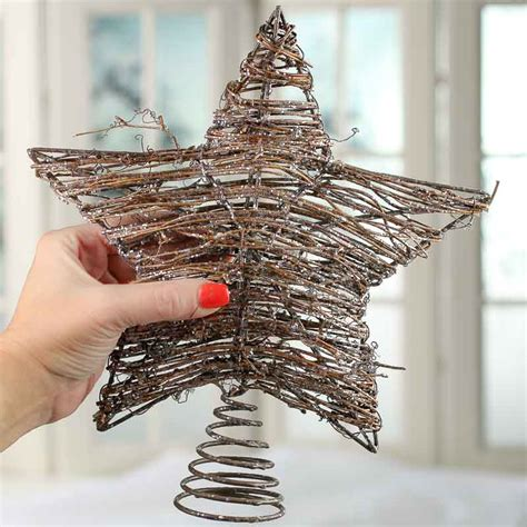 sparkling grapevine star tree topper christmas trees and