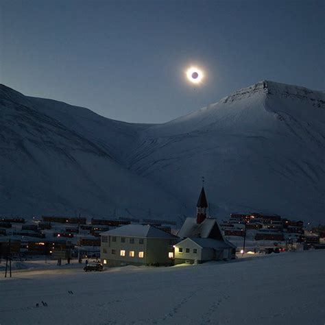 eclipse theme norway today todays eclipse from longyearbyen in svalbard a norwegian