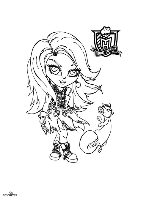 16 coloriages Monster high | 123 cartes