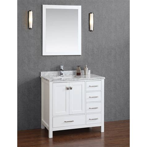 Bathroom Vanity Wood Buy Vincent 36 Inch Solid Wood Single Bathroom Vanity In White Hm 13001 36 Wmsq Wt