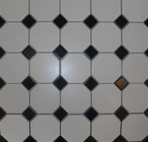 octagon mosaic tile white black dot 4 inch from classic