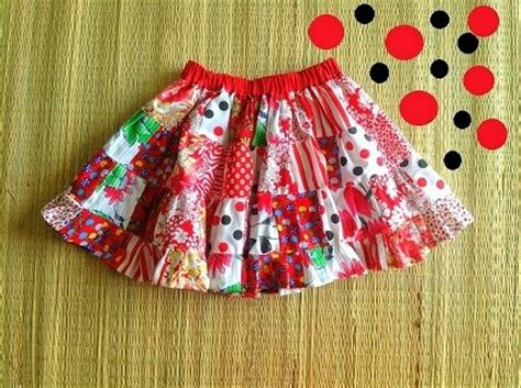 Patchwork Skirt Pattern Free - tutorial girl s patchwork tiered skirt sewing