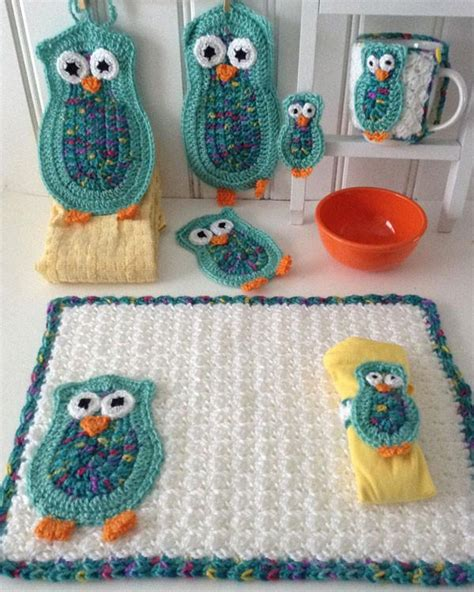 crochet pattern kitchen owl kitchen set crochet pattern maggie s crochet