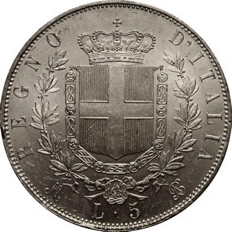 d italia valute 5 lire vittorio emanuele ii italy numista