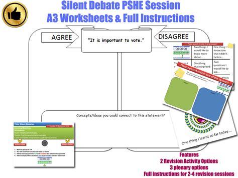 Pshe Homework Ks2 by Pshe Silent Debate Activity Form Time Tutor Time Pshe