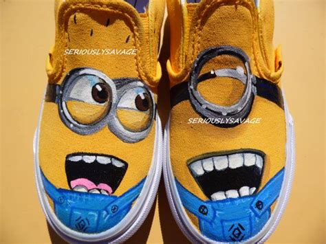 minion sneakers for adults despicable me 2 minions dave and tim friends forever