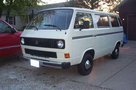 volkswagen vanagon cer purchase used 1986 volkswagen vanagon syncro w subaru svx