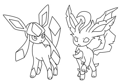 pokemon coloring pages of leafeon 52 pokemon coloring pages leafeon glaceon and