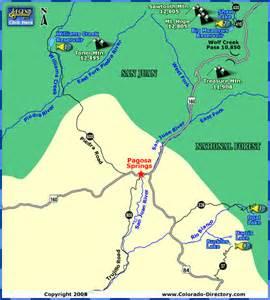 map of pagosa springs colorado pagosa springs lakes fishing map colorado vacation directory
