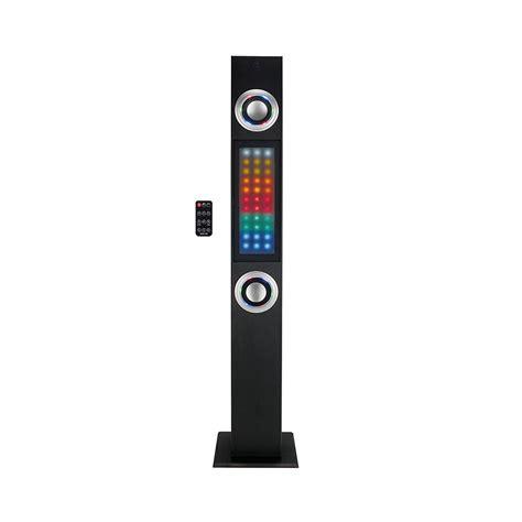 eluma lights speaker system craig 97096519m bluetooth tower speaker system with color