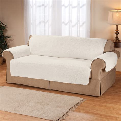 sherpa sofa protector by oakridge comforts cover