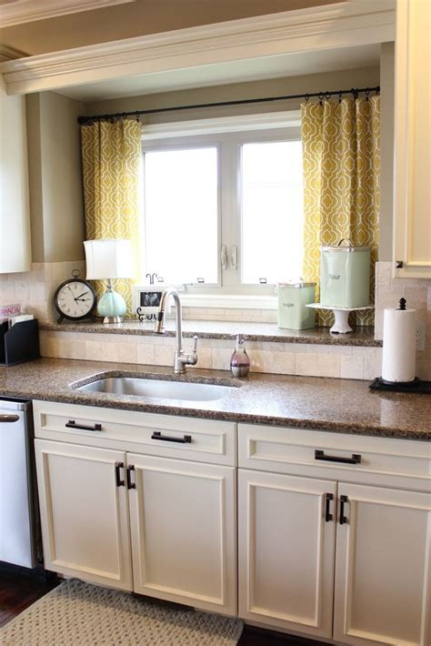 kitchen drapery ideas nifty kitchen window treatment idea also love the double