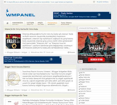 ask fm owd wmpanel blogger adsense yerleşimli bloger teması