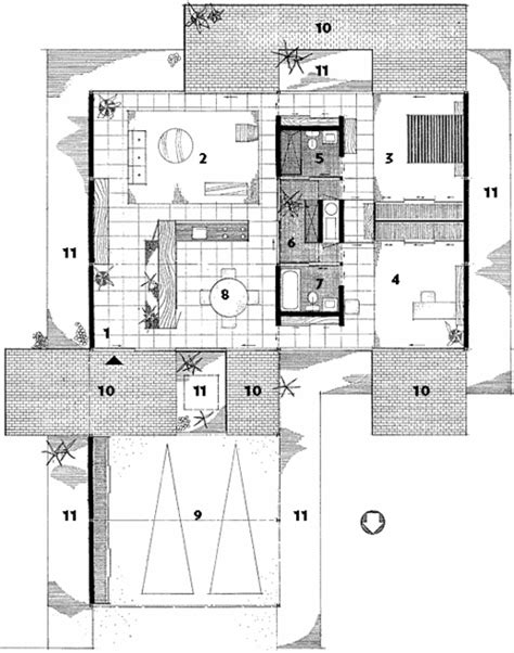 Case Study Houses Floor Plans | modern homes los angeles architectones site specific