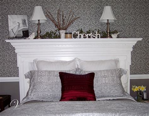mantel headboard fireplace mantel as headboard fixed up pinterest