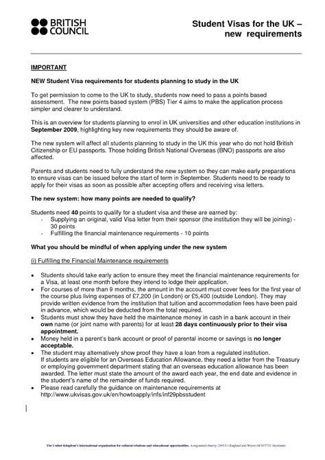 Sponsorship Letter For Student Visa sle sponsor letter for student visa application