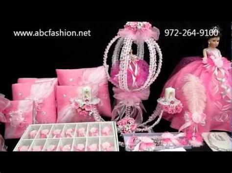 quinceanera centerpiece pink carriage in 1195