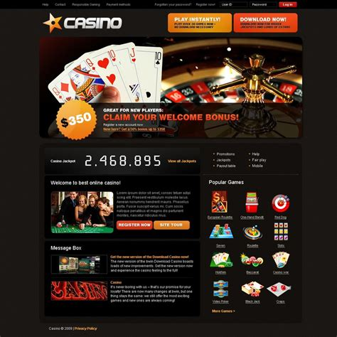 Online Casino Website Template 25237 Free Casino Templates