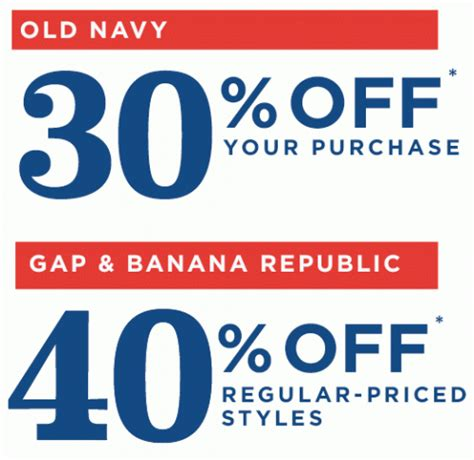 old navy coupons aug 2014 save up to 40 off at old navy gap banana republic